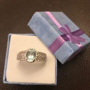 Other - Levian!!  aquamarine stone with diamonds 14 karat